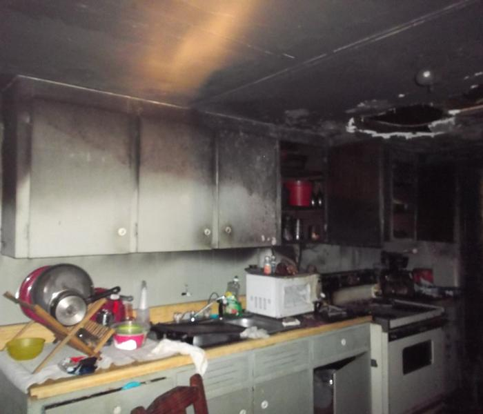 Kitchen fire damage - Asheville, NC Before
